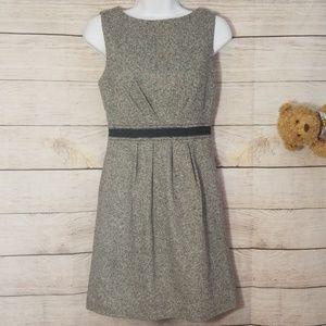Ann Taylor Loft Gray Dress Tweed Size 4P